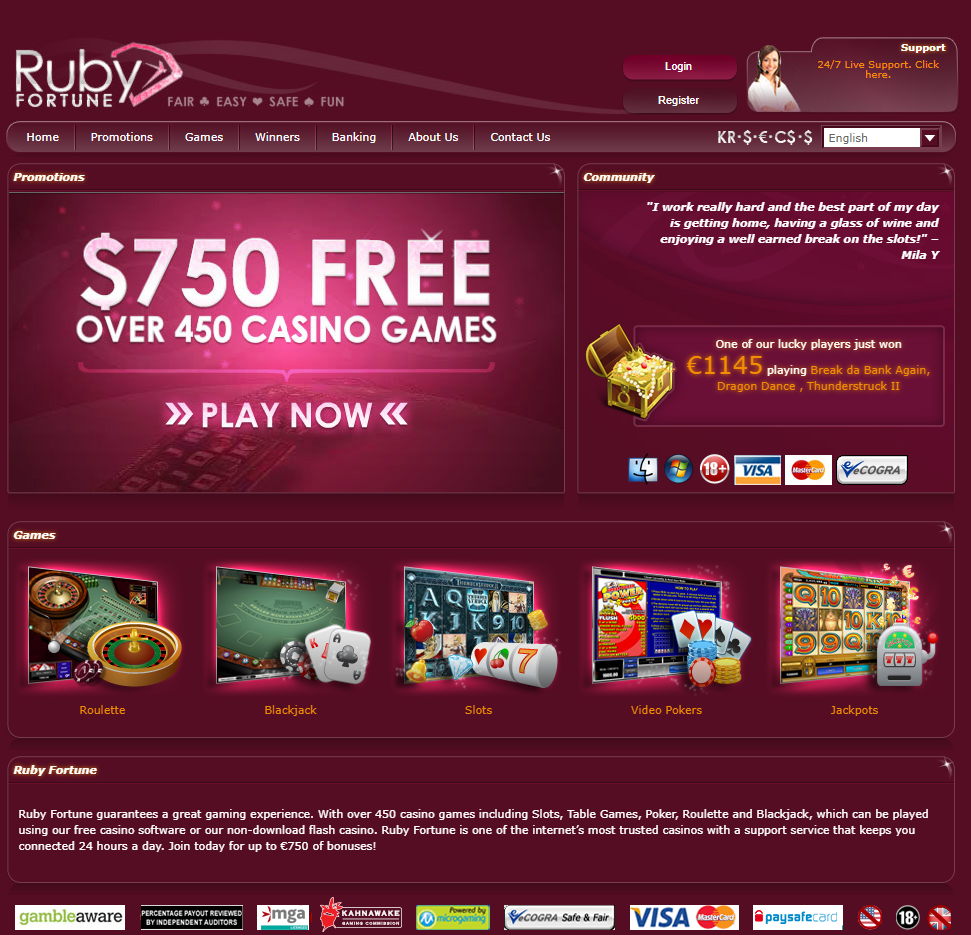 Ruby Fortune Casino NZ