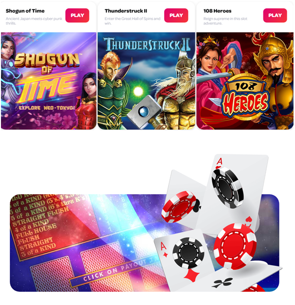 Spin Casino pokies to play in NZD